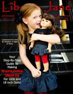"""Girl and Doll Matching Skirt Bundle :) Liberty Jane is a great source for 18"""" girl doll patterns."""