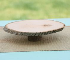 Natural Wood Tree Slice Cake or Pie Stand. $29.99, via Etsy.