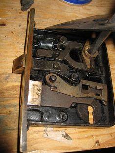Antique Door Locks cleaning and repairing an antique mortise door lock | doors and house
