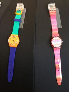 New collection of Swatch watches with key colours for the following seasons.