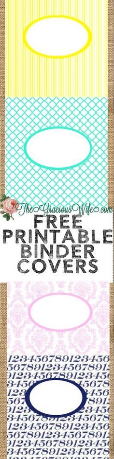 Free Printable Binder Covers and Folder Covers