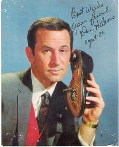 Don Adams as Maxwell Smart, Secret Agent 86 of the TV series Get Smart Childhood Tv Shows, My Childhood Memories, Don Adams, Mejores Series Tv, Cinema Tv, Old Shows, Great Tv Shows, Vintage Tv, Old Tv