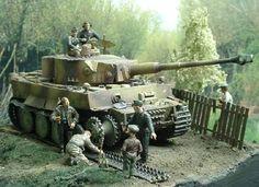 """Diorama """"Männer der Panzerwaffe"""""""