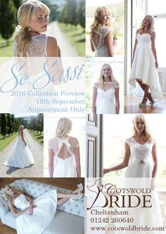 So Sassi 2016 Collection Preview Day at Cotswold Bride, Cheltenham - 19th September 2015. Appointment only. www.cotswoldbride.com