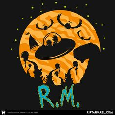 Rick and Morty T-Shirt by Jonathan Berger aka jrberger. The Extraterrestrials. Justin Roiland, Cartoon Network, Wubba Lubba, Rick And Morty Poster, Cartoon Video Games, Graphic Tees, Fan Art, T Shirt, Cartoons