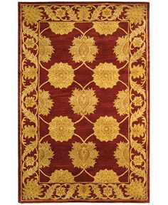 """MANUFACTURER'S CLOSEOUT! Safavieh Area Rug, Heritage HG314B Maroon 8' 3"""" x 11' - 8 x 10 Rugs - Rugs - Macy's"""