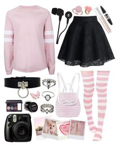 """""""...To Have Your Heart"""" by twenty-one-kitchen-sinks ❤ liked on Polyvore featuring Fujifilm, Polaroid, Passport, Lori's Shoes, Opening Ceremony, Skullcandy, Lipstick Queen, Maybelline, Laura Mercier and NYX"""