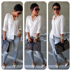 mimi g style | Mimi G. Style / Todays Look: Studs & Pearls www.mimigstyle.com
