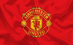 Herunterladen hintergrundbild manchester united, flagge, fußball-club, mu, premier league, england manchester united emblem