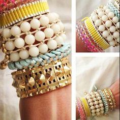 Bangles and bracelets galore === never enough bracelets.