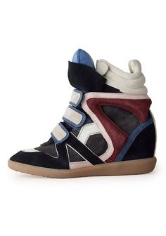 Isabel Marant high-top wedge sneakers. Beyond obsessed. (Sneakers I would wear!)