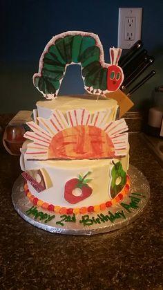1st birthday hungry caterpillar cake