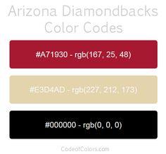 arizona diamondbacks team color codes