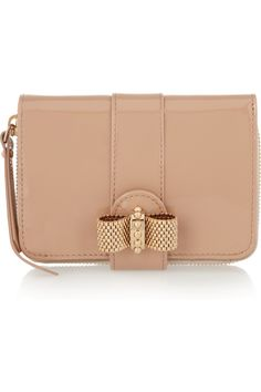 Christian Louboutin Patent-Leather Bow Wallet