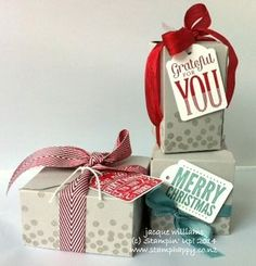 Merry Everything Gift Box Punch Board Boxes stampin up
