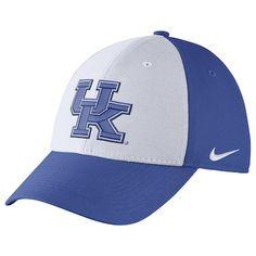 83a0868bdc9 Men s Nike White Royal Kentucky Wildcats Swoosh Performance Flex Hat