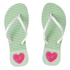 #ad Green Stripes, Monogram, Slip On, Sandals, Shopping, Shoes, Style, Fashion, Moda