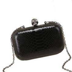 2015 Mini Box Snake Leather Chain Clutch Bag on Made-in-China.com