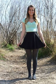 - You are in the right place about Little Black Dress night Here we offer you the most beautiful pictures about the Little Black Dress open back you are Pantyhose Fashion, Pantyhose Outfits, Black Pantyhose, Tights Outfit, Skirt Outfits, Dress Skirt, Casual Outfits, Cute Outfits, Cool Tights