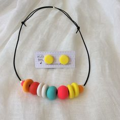 Mixed bright summertime colour polymer clay by KleiBalJewellery
