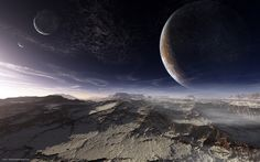 Alien Planets | Download wallpaper alien planet, surface, Mountains, sky free desktop ...