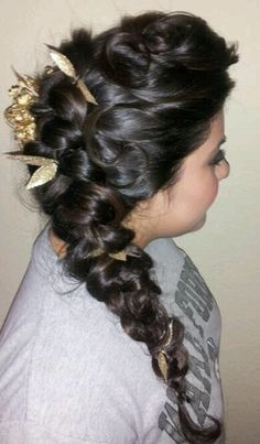 Quincenera side updo we still got 9 years but it never too early to start brainstorming lol