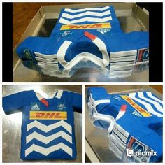 Stormers rugby jersey birthday cake 9th Birthday Parties, Birthday Cake, Rugby Cake, Cake Creations, Cakes, Party, Ideas, Cake Makers, Birthday Cakes