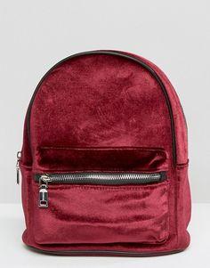 Pull&Bear   Pull and Bear Mini Velvet Backpack
