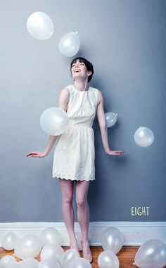 Blow up balloons with air, throw them around, and have a photoshoot! @Nichole Burnett
