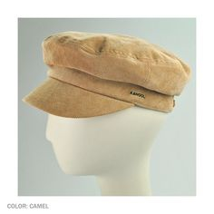 """The Enfield resembles a fisherman's cap complete with fillet, stout crown,  cord fabric for a soft hand feel  flannel check lining for added warmth during the cold winter months. accented canvas strips and metal studs on the back of the cap.    Approx. 2 1/4"""" bill/visor   Approx. 10"""" flat diameter     Made of:   72% polyester   25% cotton   3% spandex     Flannel cotton lining   Canvas strip with metal studs   Cotton sweatband  $ 50"""