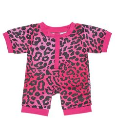 Fuchsia Animal Print Sleeper | Build-A-Bear Workshop