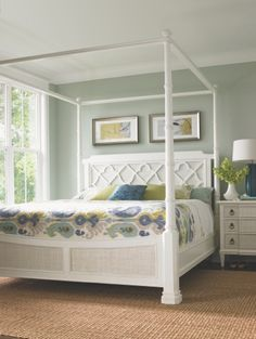 Tommy Bahama Home Ivory Key South Hampton Poster Bed at retail in early 2013.