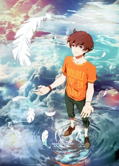 Zankyou no Terror, fan art: Twelve by Nipuni My Favourite Anime for now Manga Anime, Manga Boy, All Anime, Anime Art, Anime Boys, Cowboy Bebop, Death Note, Tokyo Ghoul, Otaku