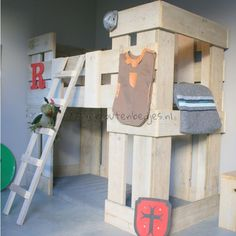 Kid Beds, Bunk Beds, Kidsroom, Kids Bedroom, Bedroom Ideas, Ladder Decor, Woodworking, Simple, Boys