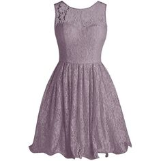Tideclothes Short Lace Bridesmaid Dress Cute Bowtie Prom Evening Dress ($88) ❤ liked on Polyvore featuring dresses, short cocktail dresses, purple cocktail dresses, cocktail prom dress, purple prom dresses and lace dress