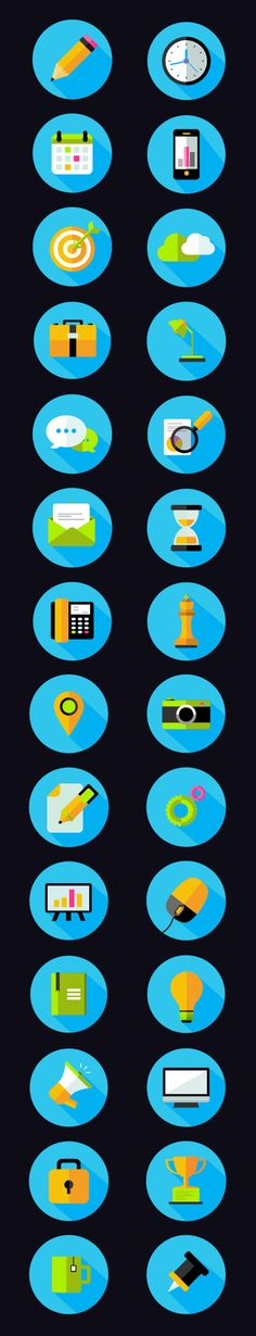 Free Flat Icons Pack (28 Icons)