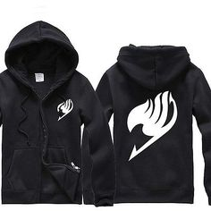 New Anime Fairy Tail Clothes Costumes Guild Mark Hooded Sweater Cosplay Hoodie | eBay