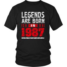 30th Year Old Man Shirt Gift Legends Are born in 1987 Tee – teefim