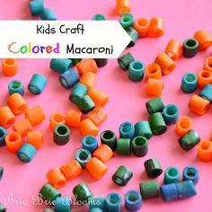 Kids Craft - Colored Macaroni