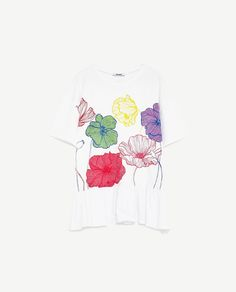 Image 8 of FLORAL PRINT T-SHIRT from Zara