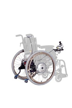 Decon E-Drive, Elektrische aandrijving voor handbewogen rolstoelen. Wheelchair Drive for manual wheelchairs