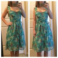 Lauren Conrad Sundress Pastel green color sundress. Waste tie and fully lined with buttons all the way down. Top of strap to bottom is 35 inches. Bust is 15 inches. Waist is 13 inches. Same day or next day shipping. No trades in no holds. 20% off of bundles. LC Lauren Conrad Dresses Mini