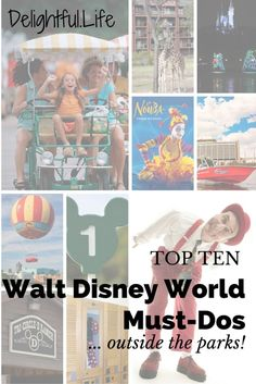 Our favorite things to do outside the parks at Walt Disney World. On your next trip, take these suggestions to resort hop, find top-notch entertainment, ride horses, fly a hot air balloon, and so much more!