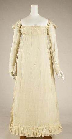 ca. 1814 American Linen Dress - Metropolitan Museum of Art