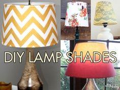 Home Inspiration: 10 DIY Lamp Shade Ideas