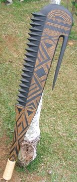 Samoan war club - Nifo Oti Such a HUGE mail opener Bajaja Beil, Survival Weapons, Arm Armor, Fantasy Weapons, Knives And Swords, Katana, Firearms, Guns, Bushcraft