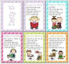 Set of Daily 5 Posters - Teacher's Marketplace, the online marketplace for teachers, by teachers, with original educational digital resources, lesson plans, worksheet, printables and more! by tasha