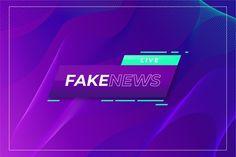 Fake news live over curvy violet background | Free Vector Red And Black Background, Violet Background, Typography Poster Design, New Backgrounds, Fake News, Vector Free, Live, Dental, Curvy