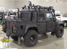 a LandRover Defender by Line-X