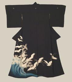 silk kimono, early showa period (1927-1940)